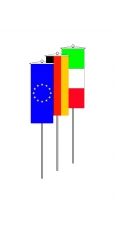 Nationalfahnen als Bannerfahnen