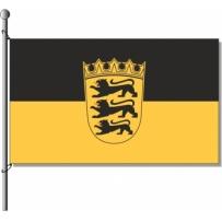 Baden-Württemberg mit Wappen