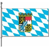 Bayern-Rauten mit Wappen
