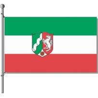 Nordrhein-Westfalen mit Wappen