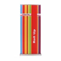 Roll Up Premium 85 cm, Druck inkl. System alufarben