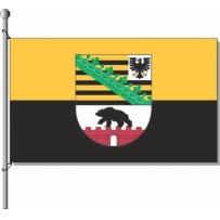 Sachsen-Anhalt mit Wappen